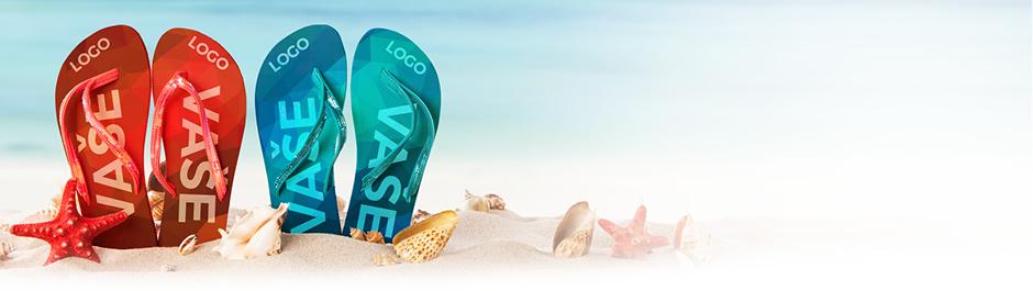 reklamní plážové žabky